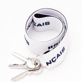 Porte-clés blanc - ref :  GFPC BLANC