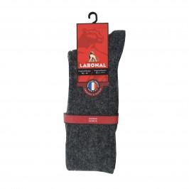 Mi-Chaussettes à côtes Aangora anthracite - ref :  35232 3000