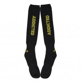 Chaussettes ADDICTED noir & jaune - ref :  AD381 YELLOW 03