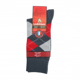 Mi-chaussettes anthracite - ref :  34189 3041