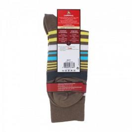 Chaussettes Rayures colorées Lin foncé - LABONAL 34377 2200
