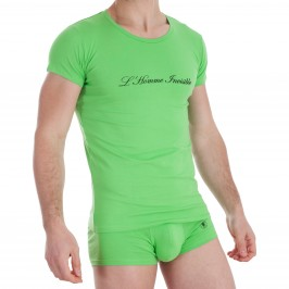 T Shirt Col Rond Vert - L'HOMME INVISIBLE MY92-BAS-004