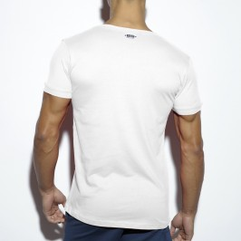 T-Shirt Basic Fitness blanc - ES COLLECTION TS173 C01