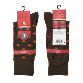 Chaussette pois marron - LABONAL 34449-5100