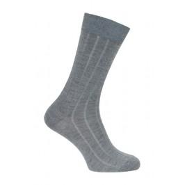 Chaussettes  laine et soie gris moyen - LABONAL 38545 3200