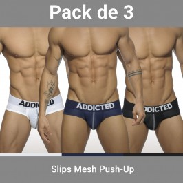 Lot de 3 Slip Push up - ADDICTED AD475P C3COL