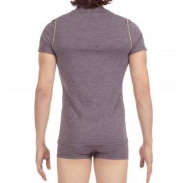 TOMMY HILFIGER men/'s Concord logo violet coton à encolure ras-du-Cou Shirt à Manches Courtes