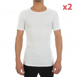 T-Shirt Crew Neck Two Cotton blanc (Lot de 2) - HOM 400566 0003