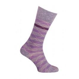 Chaussettes - Moulinée rayures coton - violet - LABONAL 34613 9930