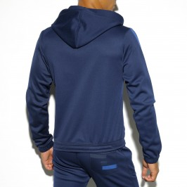 Veste capuche Light Double Face navy - ES COLLECTION SP132 C09