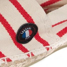 Espadrilles rayées made in france écru rouge - LABONAL 99064-2490