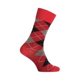 MI-CHAUSSETTES INTARSIA LAINE ANGORA - Sans couture - Rouge - LABONAL 38749 9100