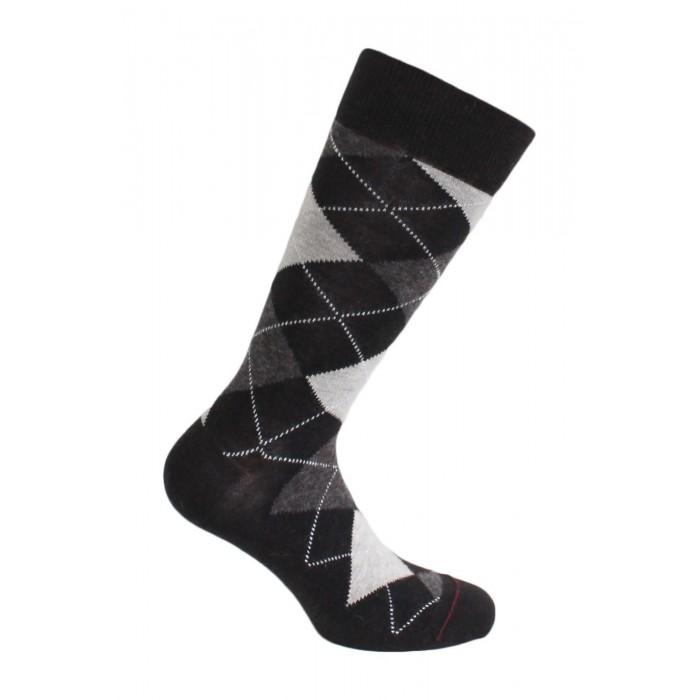 MI-CHAUSSETTES INTARSIA LAINE ANGORA - Sans couture - Dark Brown - LABONAL 38749 5850