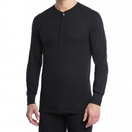 Men's Tech Long-Sleeve Henley Shirt noir - 2(X)IST 046125 00101