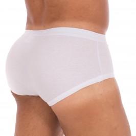 Slip 108 taille haute blanc, ouvert, pur coton hypoallergénique - ref :  0108 0001
