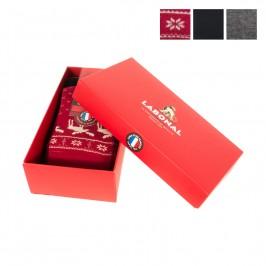 Coffret Chausette Nöel Rouge - Gris - LABONAL 34775-ROUGE/GRIS
