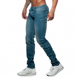AD636 Basic  Jeans bleu jean - ADDICTED AD636 C500