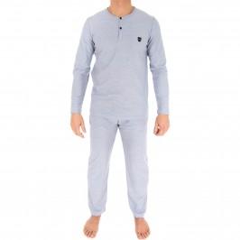 Pyjama à col tunisien gris - EDEN PARK *E508F01 039
