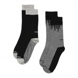 SKM-RAY-TWOPACK - Chaussettes Ray ( Lot de 2 ) noir - DIESEL 00SAYH-0EASY-E3841