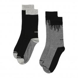 SKM-RAY-TWOPACK - Chaussettes Ray ( Lot de 2 ) noir - DIESEL 00SAYH-0EASY-E3841