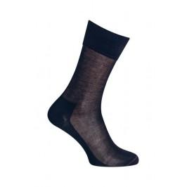 MI-CHAUSSETTES  Unie coton fil d'écosse - Sans couture - Marine - LABONAL 32076 1000