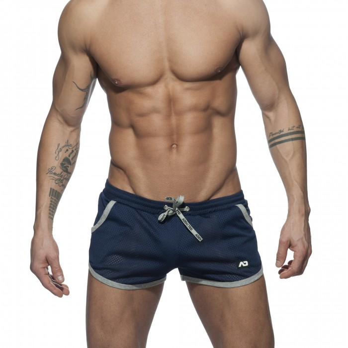 Short Basic Mesh navy - ADDICTED AD647 C09