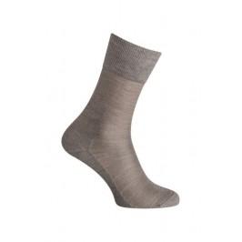 MI-CHAUSSETTES Unie soie - Sans couture - Gris - LABONAL 39019 3200