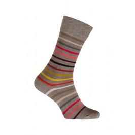 MI-CHAUSSETTES Rayures multicolores coton - Sans couture - Gris - LABONAL 34759 3200