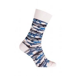 MI-CHAUSSETTES Requins coton - Sans couture - Blanc - LABONAL 345757 7000