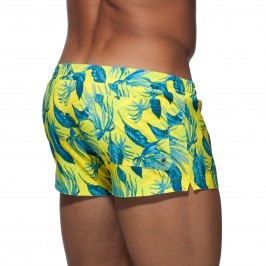 Short de bain Plants jaune - ADDICTED ADS140 C03