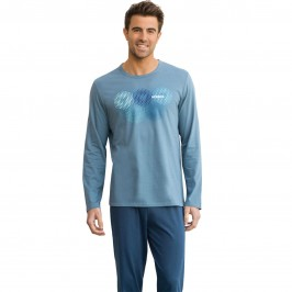 Pyjama long homme col O Eco Pack Athena - ATHÉNA 7h85 3162