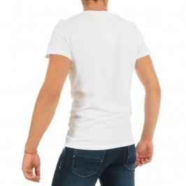 T-shirt col V Classic blanc - HOM 400206 0003