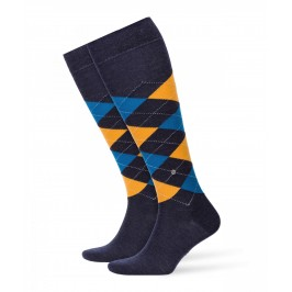Chausettes Edinburgh - jaune/bleu - BURLINGTON 27083-6279