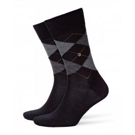 Chaussettes Edinburgh - gris/noir - BURLINGTON 21182-3000