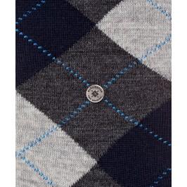 Chaussettes Mi-Bas Edinburgh - marine/gris - BURLINGTON 27082-3194