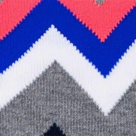 Chaussettes Stripe Zig Zag gris - BURLINGTON 20573-3390