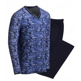 Pyjama long foz - bleu - IMPETUS 4546F48-039