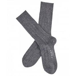 Chaussettes Lhasa Rib - gris - FALKE 14423-3390