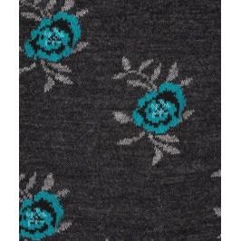 Chaussettes Fleurs Laine Anthracite - LABONAL 38994 3000