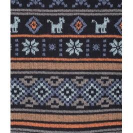 Chaussettes Motifs incas Laine Bleu - LABONAL 38989 1000