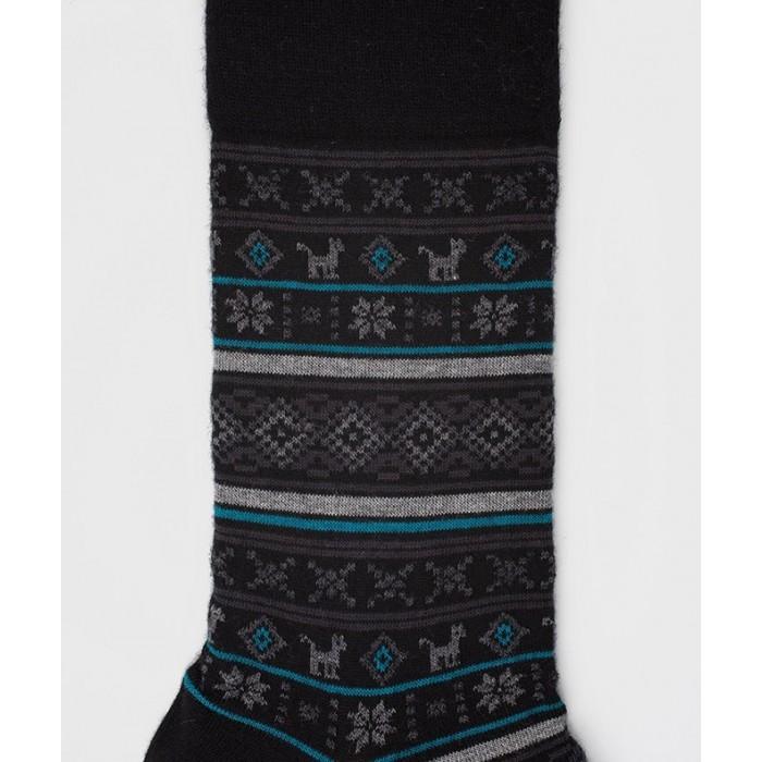 Chaussettes Motifs incas Laine Noir - LABONAL 38989 8000