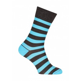 Chaussettes Rayures marin Laine Anthracite - LABONAL 38122 3000