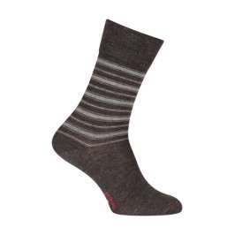 Chaussettes Rayures Laine Anthracite - LABONAL 38987 3000
