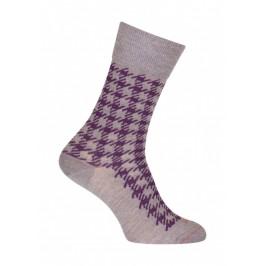 Chaussettes Pied de coq Laine Gris - LABONAL 38991 3200