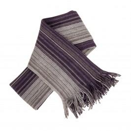 Echarpe rayure bicolore prune - LABONAL 75246 9800
