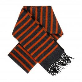 Echarpe rayure gris/orange - LABONAL 75218 5000