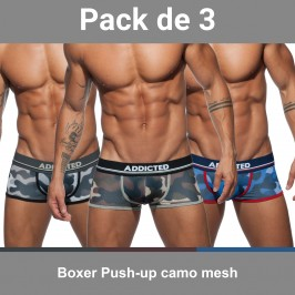 Boxer Push-up camo mesh (Lot de 3) - ADDICTED AD699P 3 COLORS