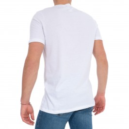 Lot de 2 T-shirt  V neck essentiel - blanc - HOM *401181-V001