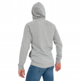 Sweat-shirt à capuche entièrement zippé - gris - CALVIN KLEIN *NM1609E-080