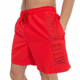 Short de bain Medium Drawstring - rouge - CALVIN KLEIN KM0KM00291-655